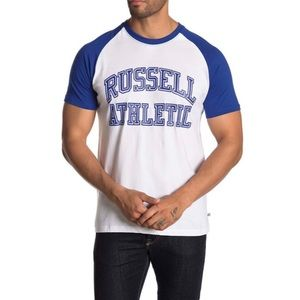 Russell Athletic Contrast Raglan Tee Size XL